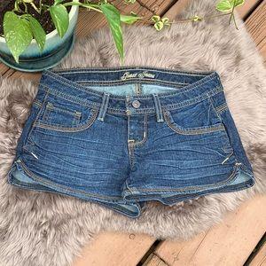 Guess Jeans Dark Denim Snap Pocket Shorts 25